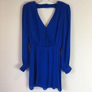 Parker royal blue 100% silk dress. sz. XS